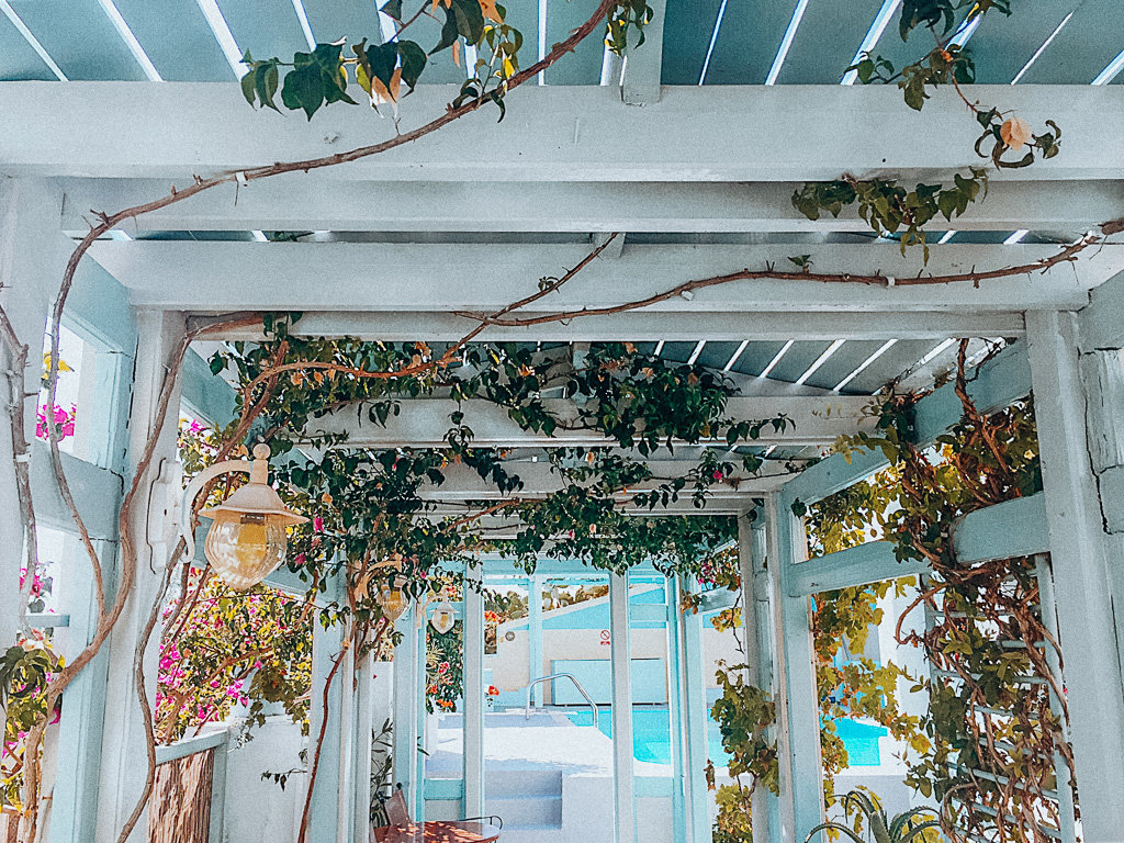 Solo Female Travel - Experiences in Santorini Greece Inside of Vicki's Beautiful Villa in Kamari