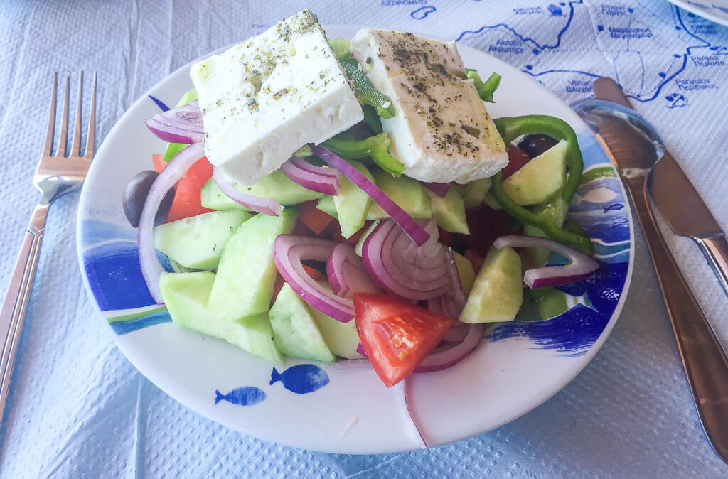Greek Salad with lots of feta cheese