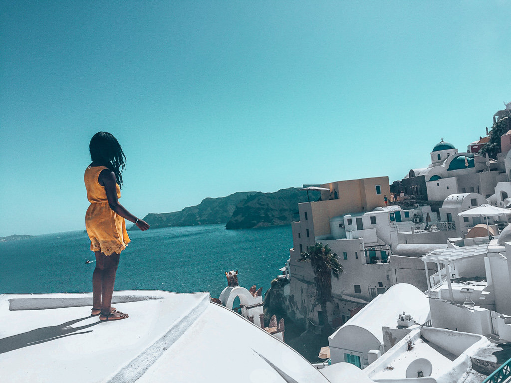 Solo Female Travel Experiences in Santorini Greece: View of Oia
