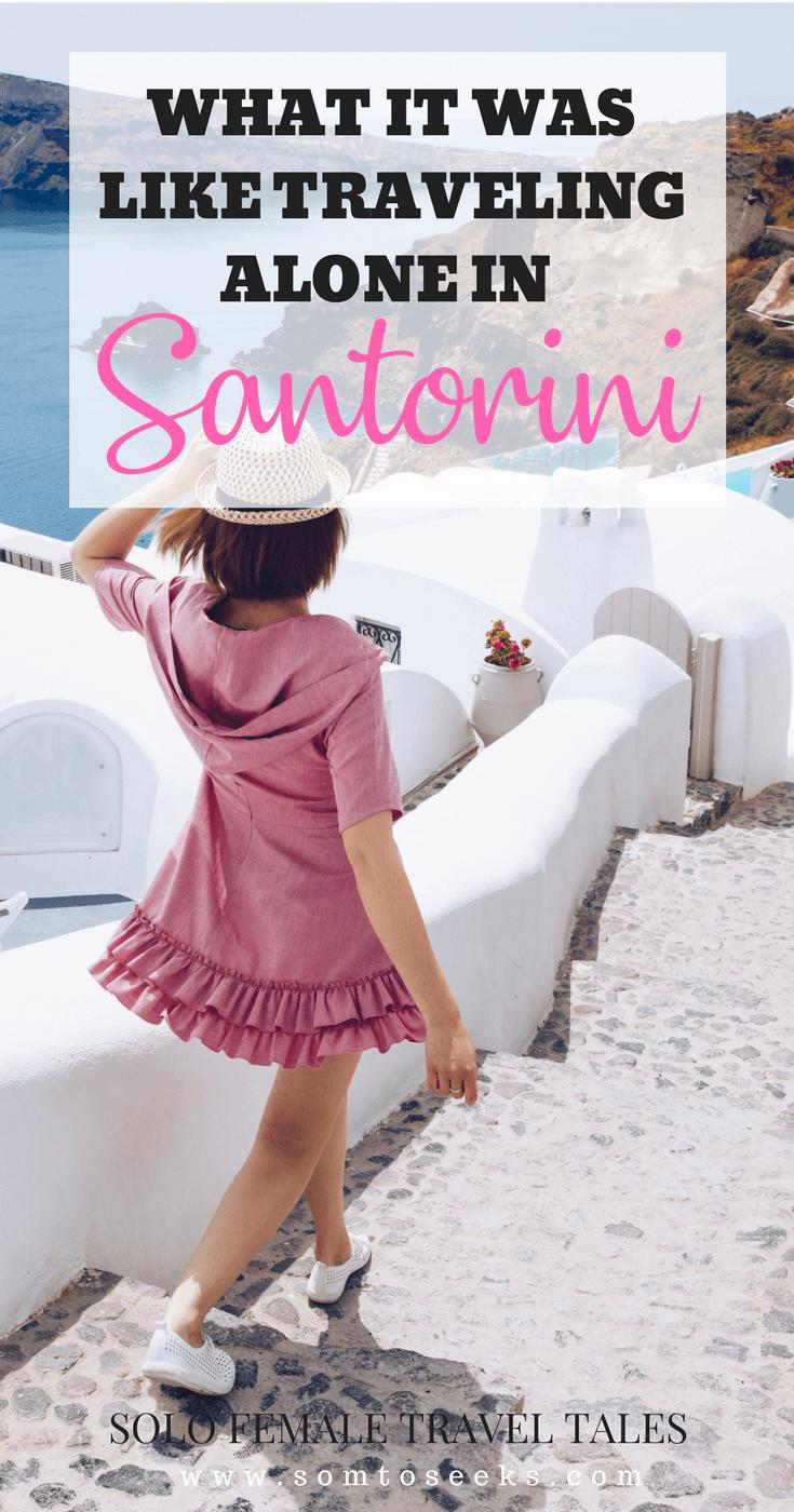 Solo Female Travel - Experiences in Santorini Greece