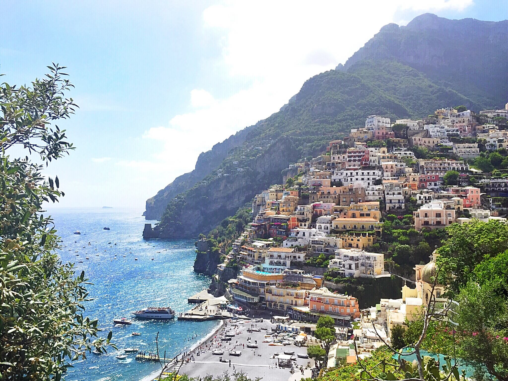 Picturesque view of Positano, jewel of the Amalfi Coast