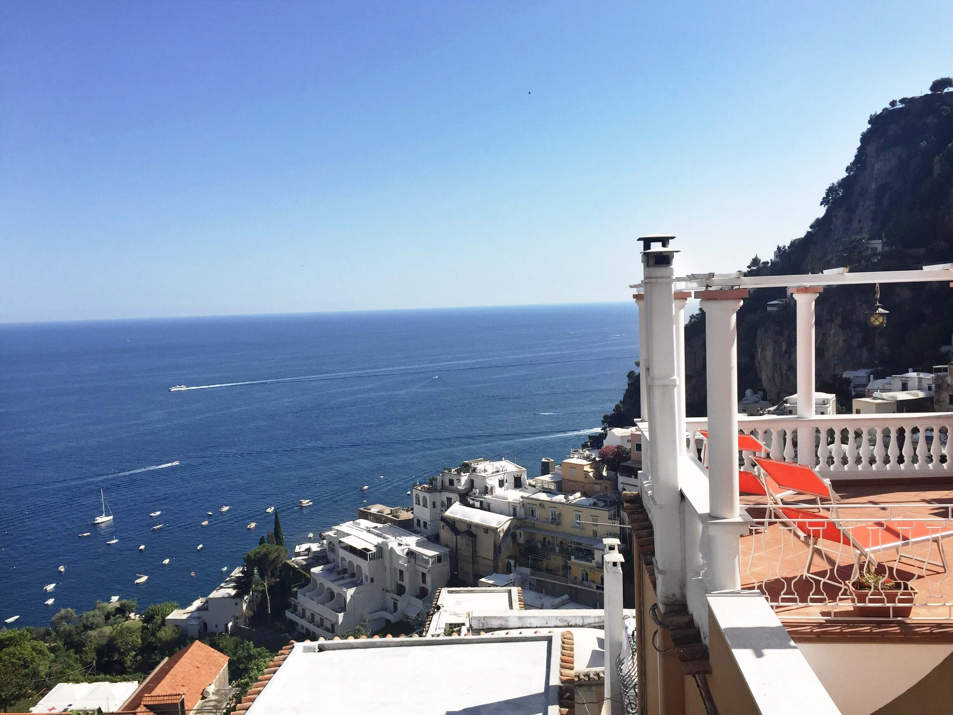 View of my hostel in Positano from my hostel