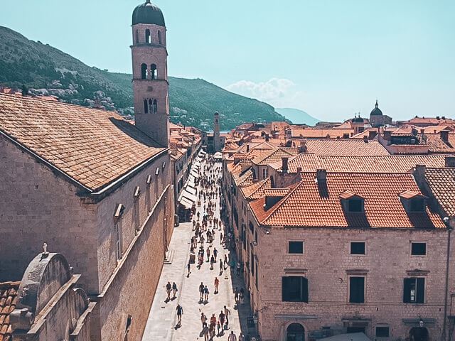 The main street of Dubrovnik, Stradun