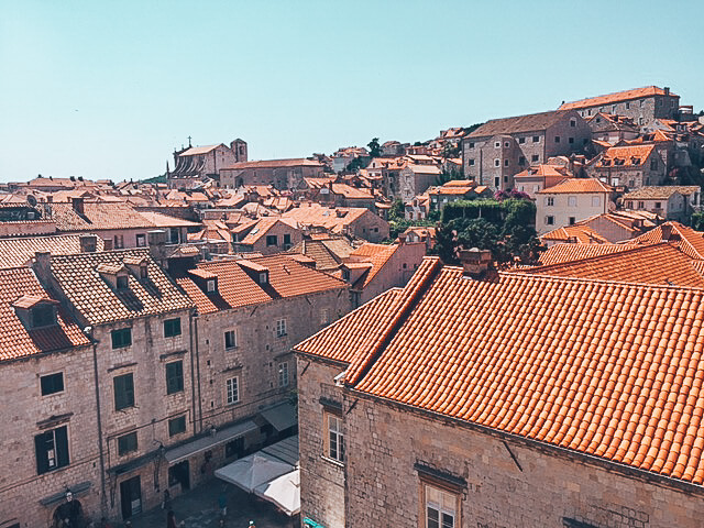 Orange tiled roofs in the Old Town