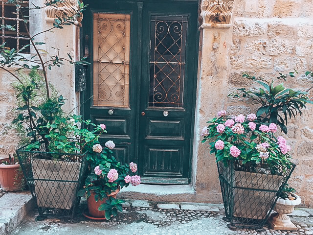 House in Old Town Dubrovnik with Flower Pots