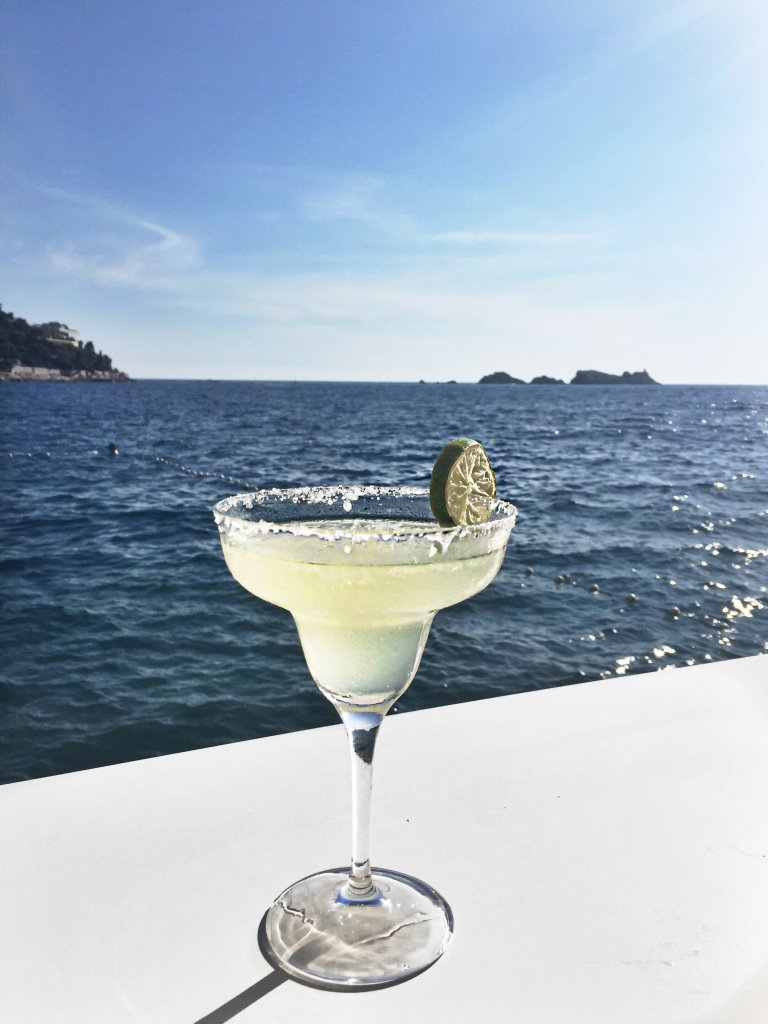 Margarita with views of the Mediterranean
