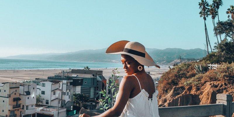 Reflecting in Santa Monica