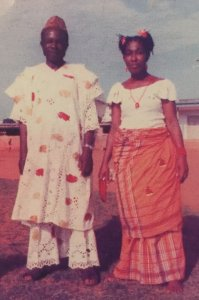 Papa Onitsha and Mama Onitsha posing after a dance in the 1970s