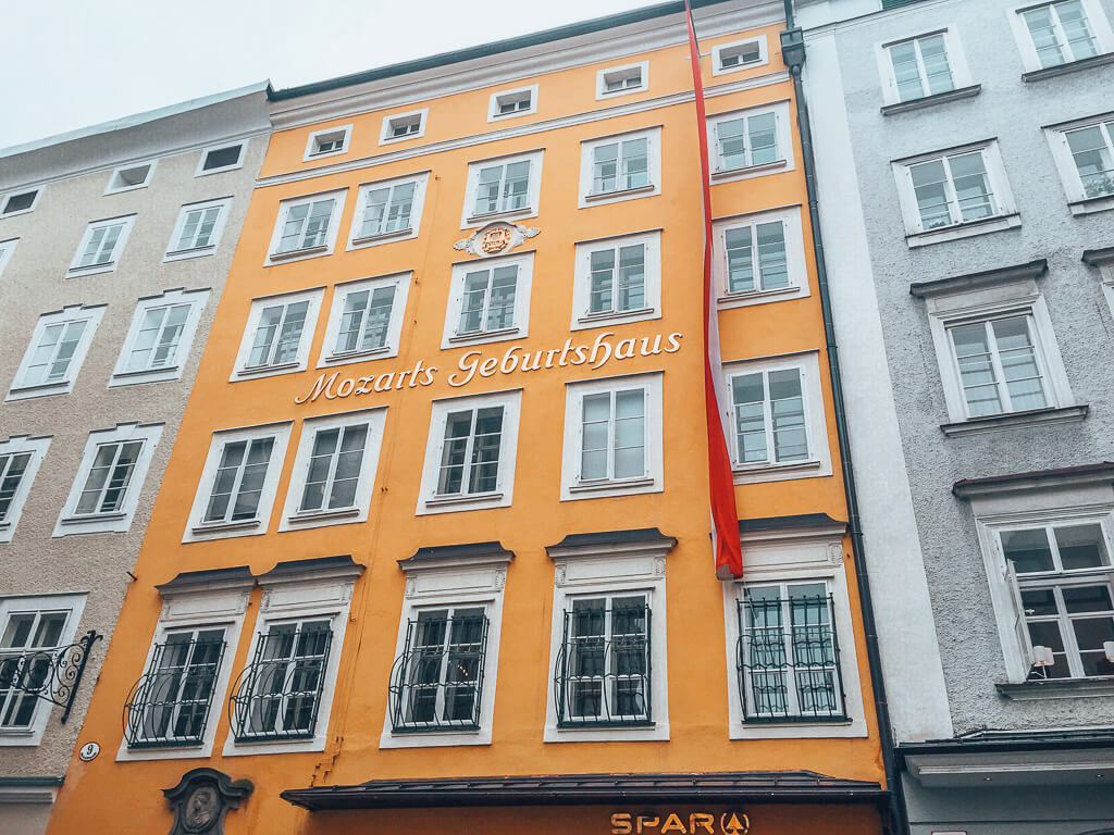 The front of Mozart's birthplace