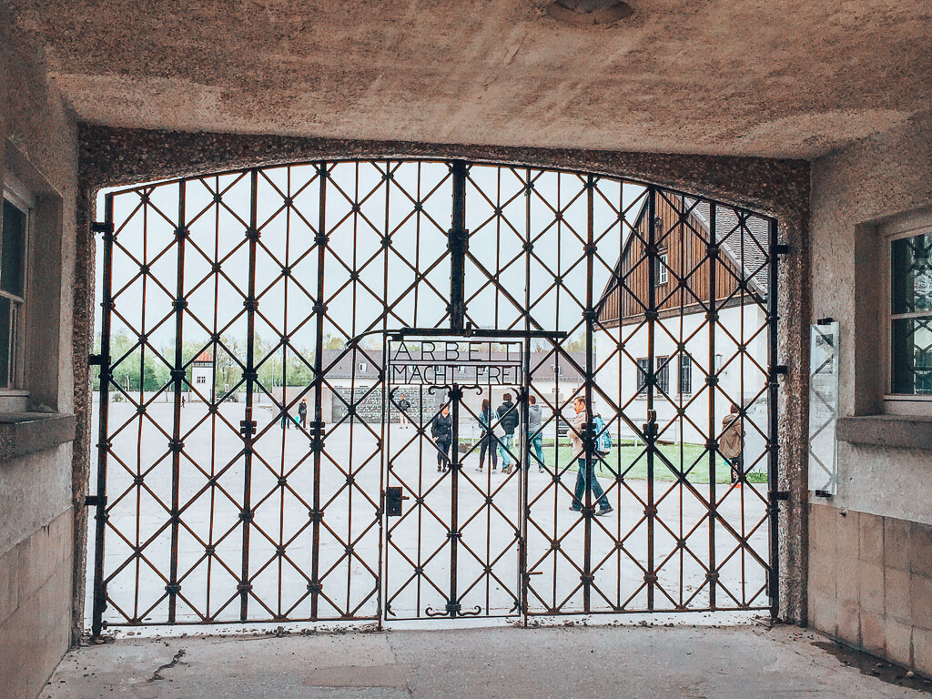 The entrance to the Dachau Concentration Camp