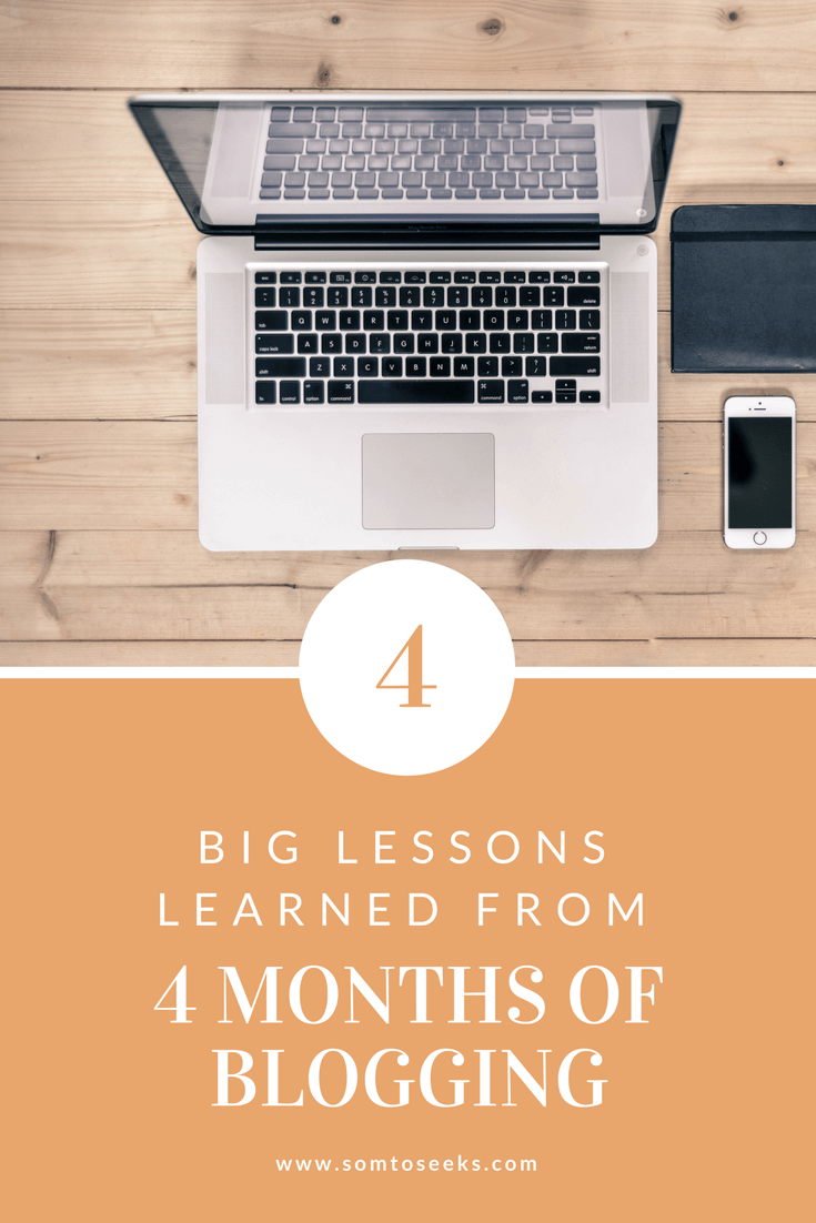 The 4 big lessons I've learned from 4 months of blogging