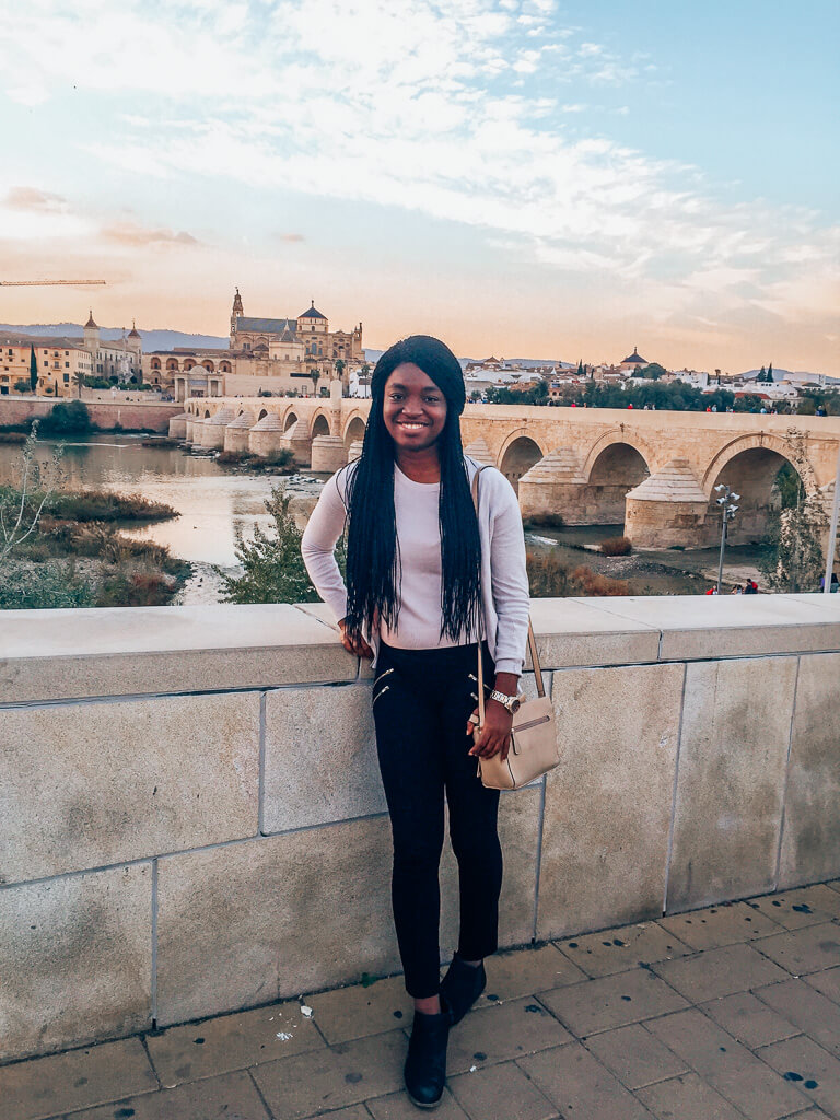 Standing at the entrance to the city of Cordoba
