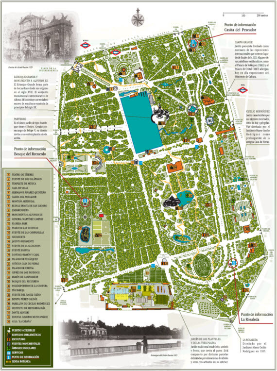 El Retiro Map - 101 Free or Affordable Things to do in Madrid