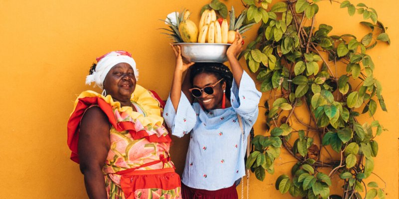 Colombia travel bucket list - Cartagena with a Palenquera