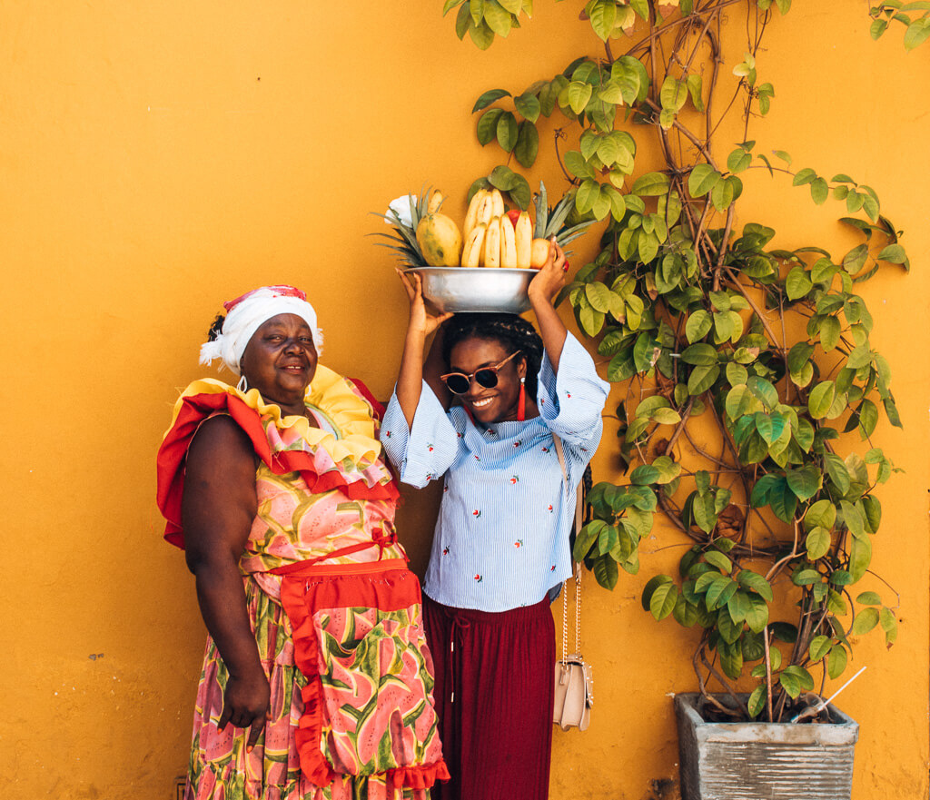 Colombia travel bucket list - Cartagena with a Palenquera called Valentina