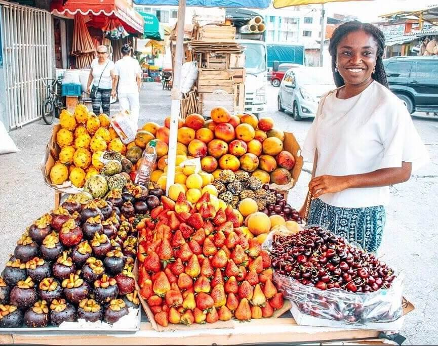 Colombia travel bucket list - tropical fruits in Cali
