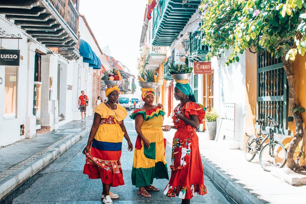 Colombia travel bucket list - Palenqueras in Cartagena