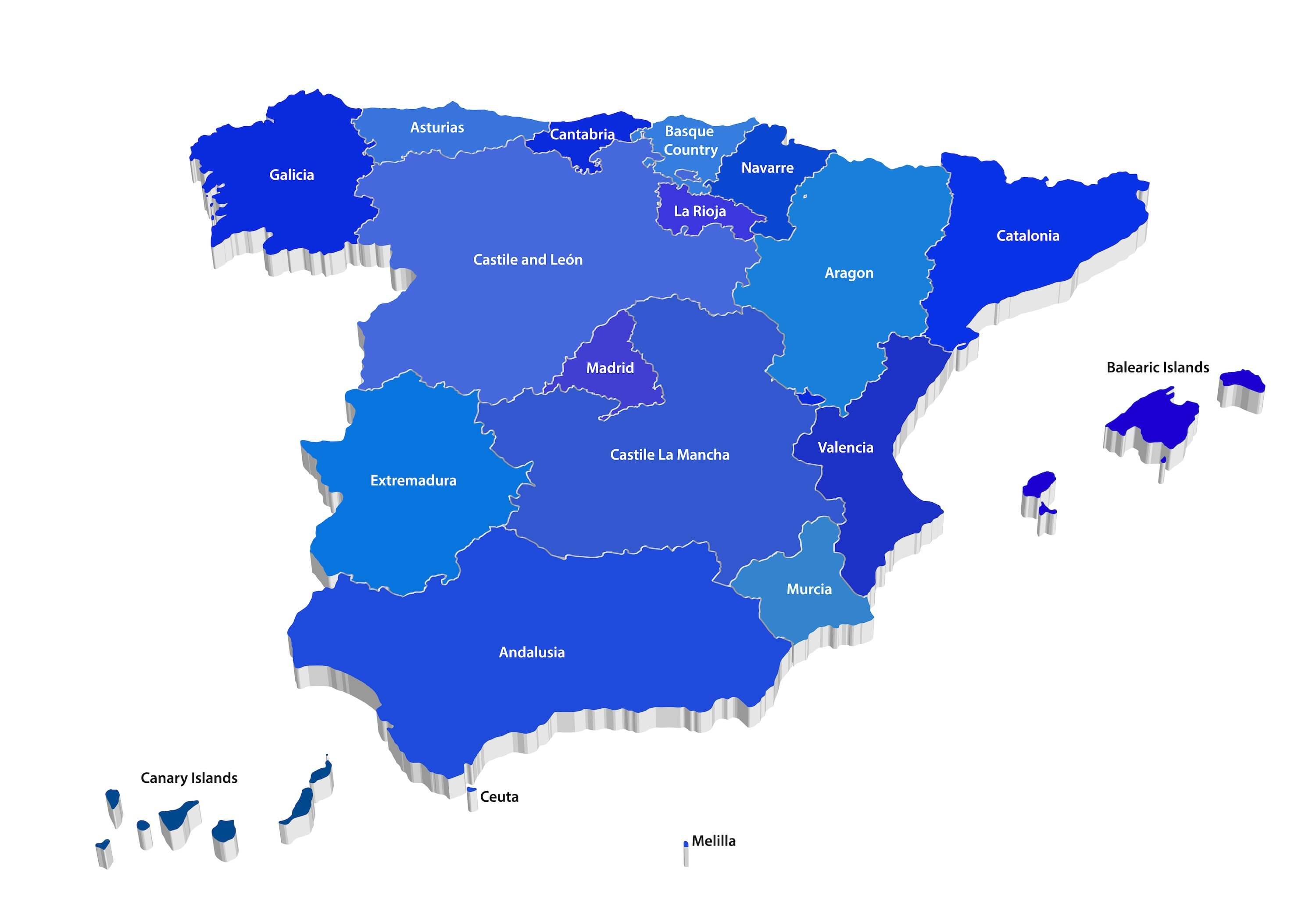 10 Travel Tips You Need to Know Before Visiting Spain - Map of Spain and Territories