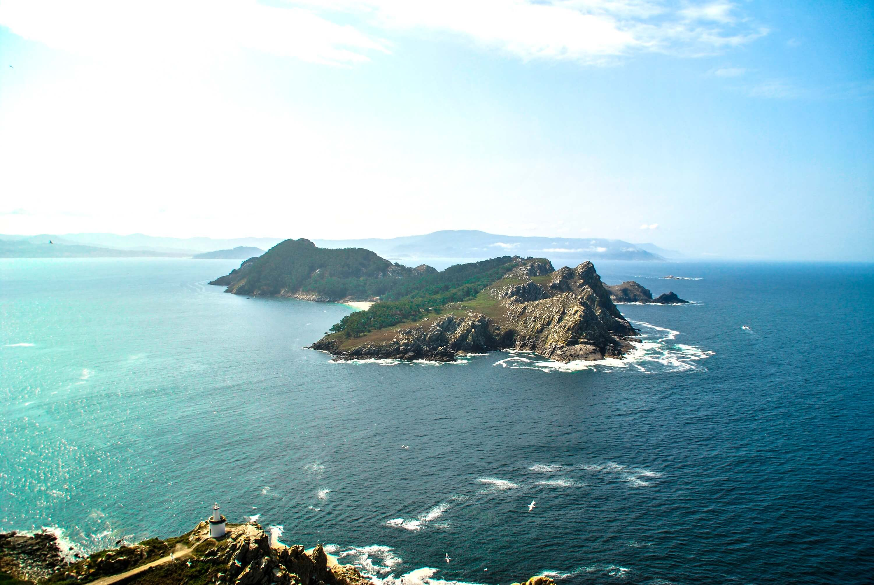 20 photos that will inspire you to visit the Cies Islands - Galicia Travel Spain Aerial View of the Cies Islands
