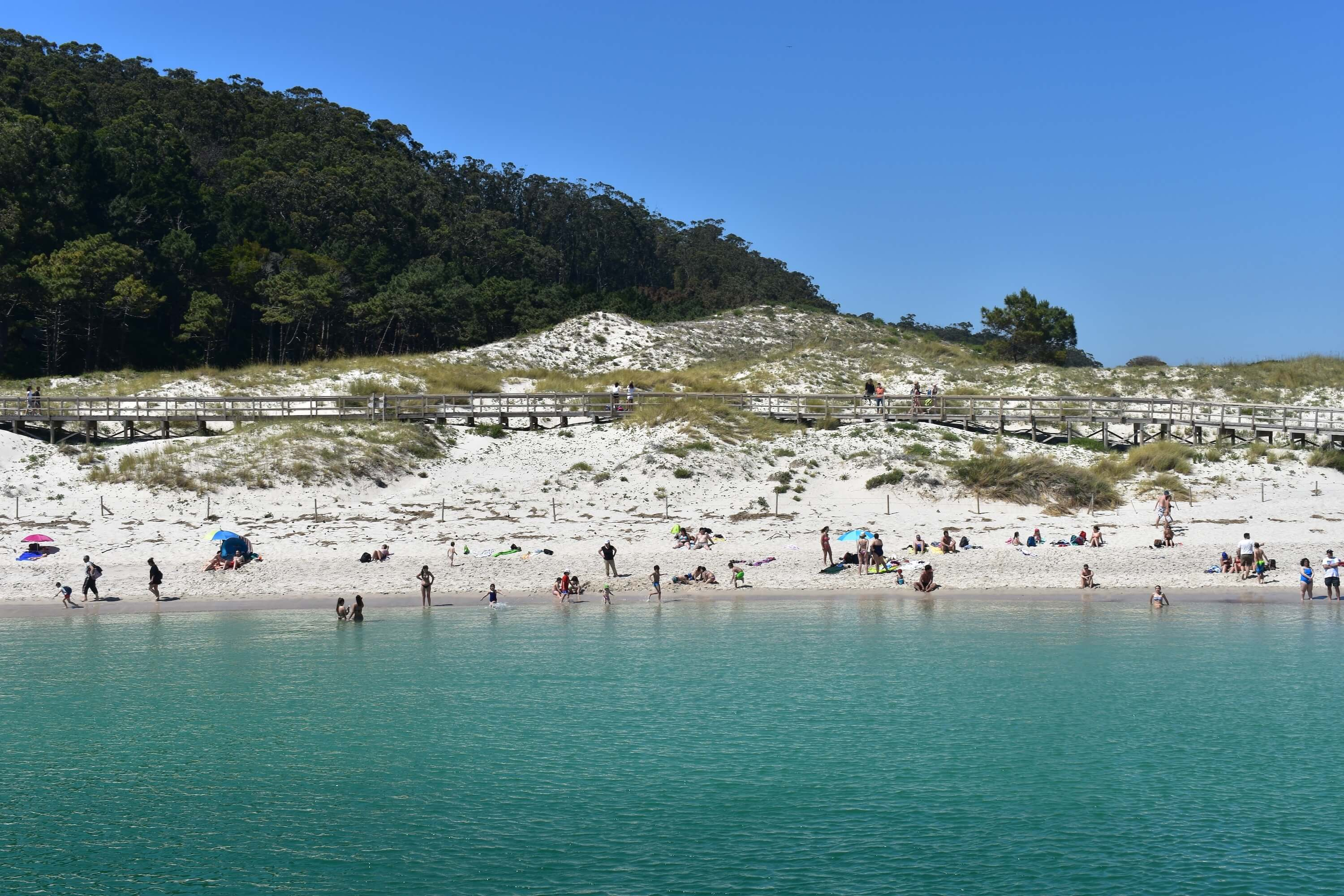20 Photos to Inspire You to Visit the Cies Islands - Galicia Spain Travel Front View of Rodas Beach