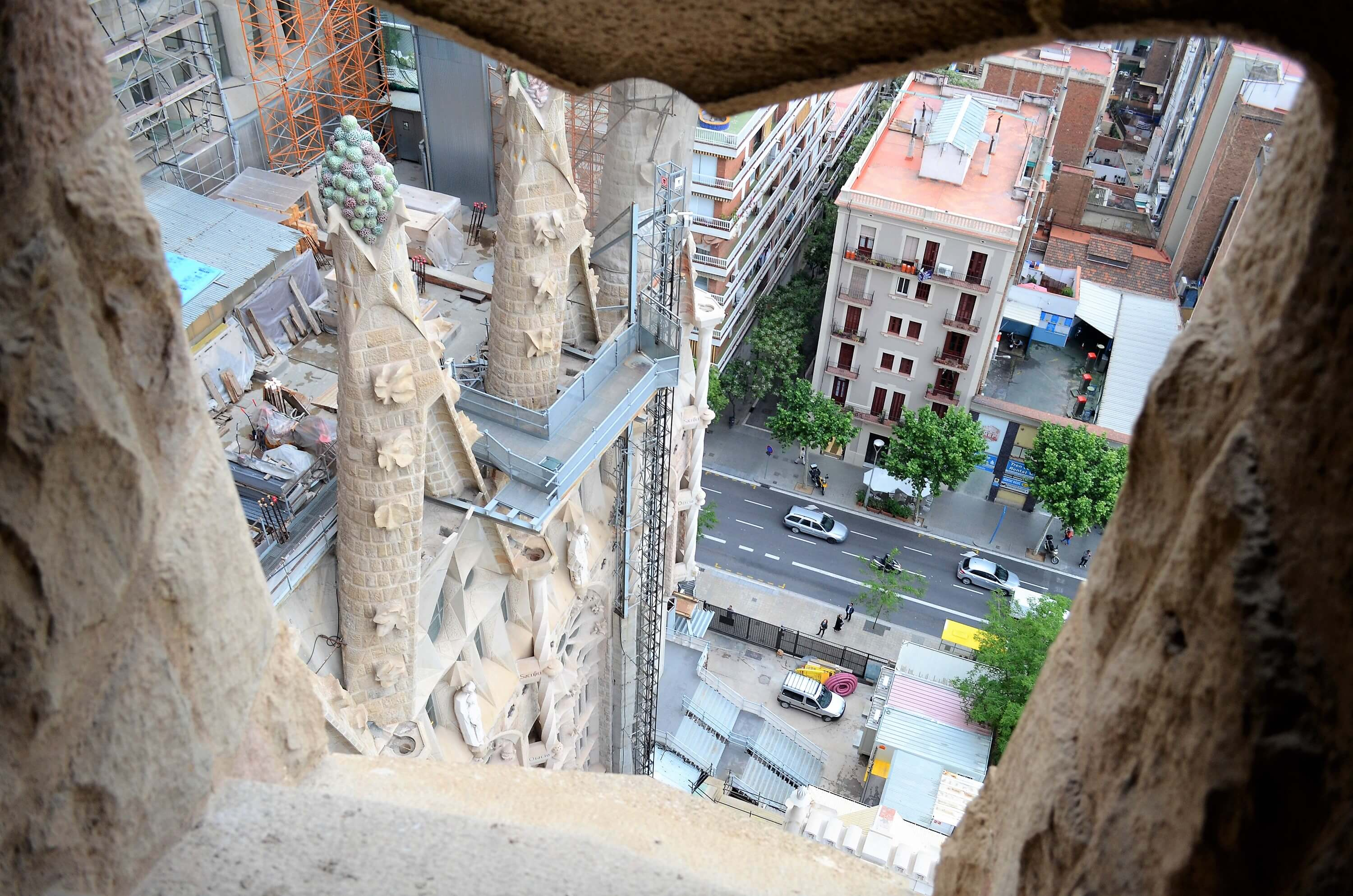 Don't make these 5 mistakes at La Sagrada Familia - view from the top.