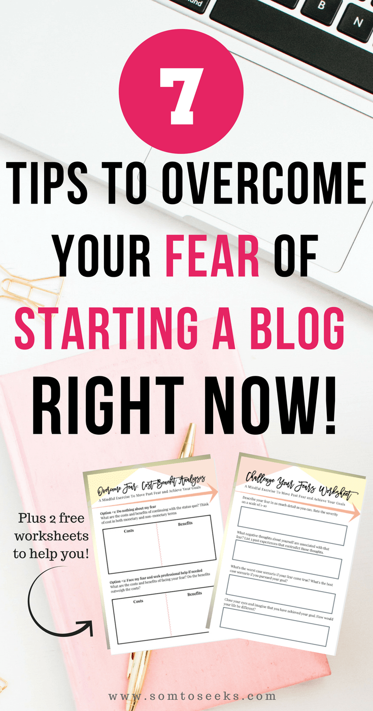How to overcome your fear of blogging + free worksheets