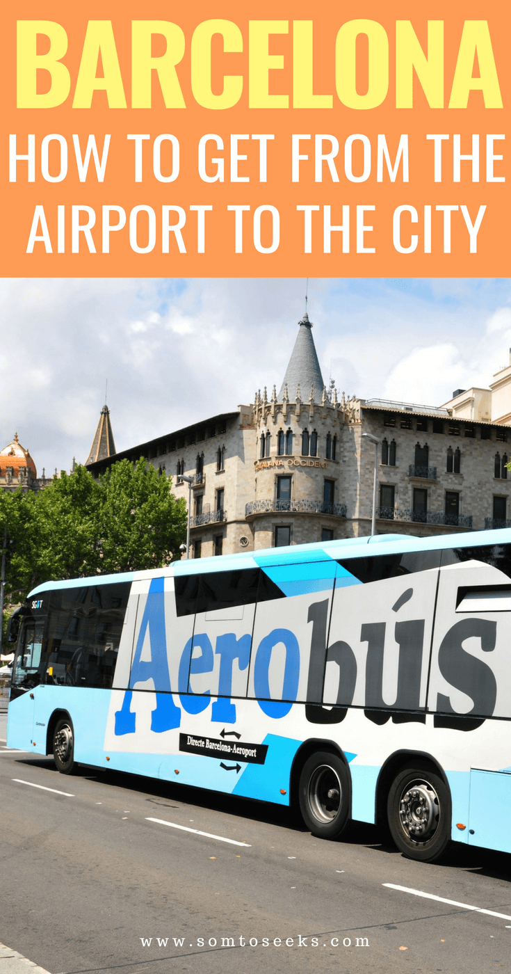 Barcelona - How to get from the airport to the city center