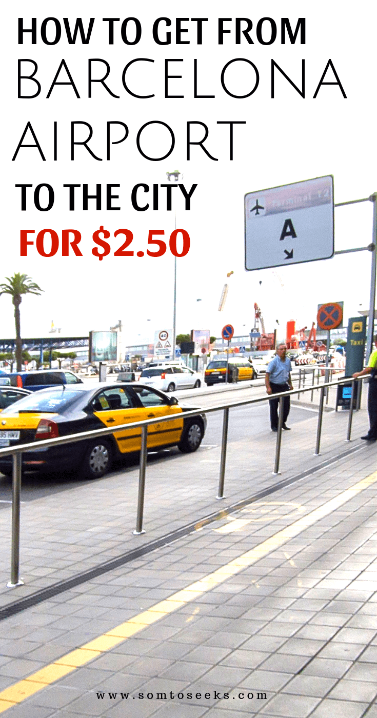 How to get from Barcelona Airport to the city for $2.50