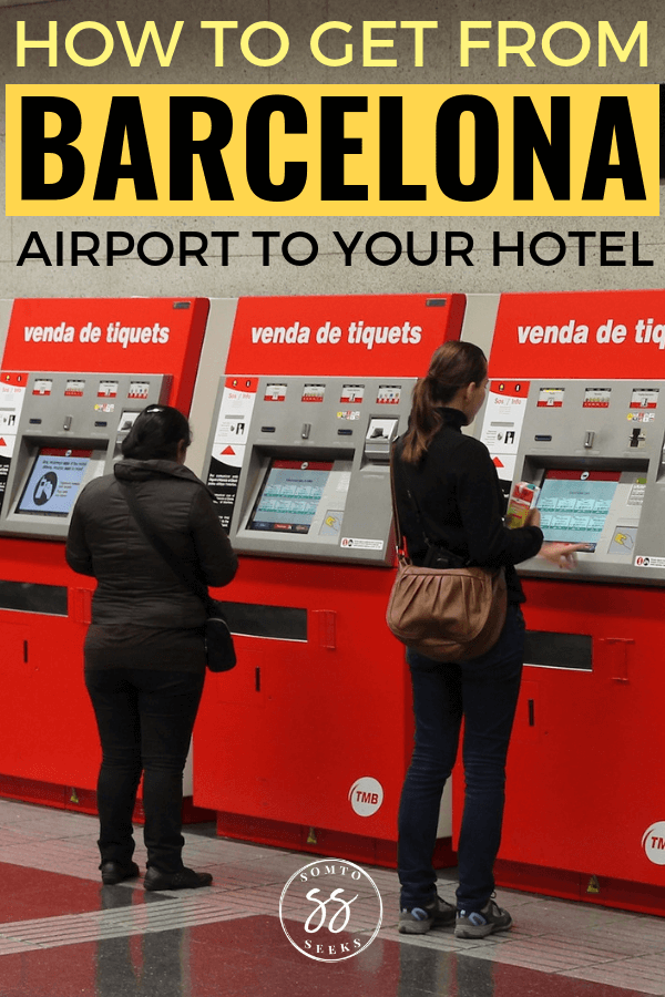 Metro vending machines - How to get from Barcelona Airport to your hotel in the city center