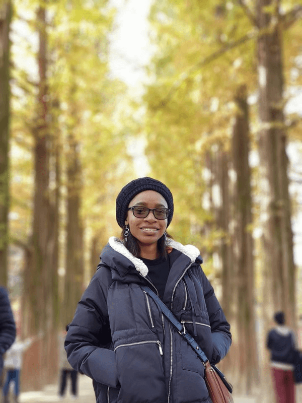 Black female solo travel - Diamond in Nami Island