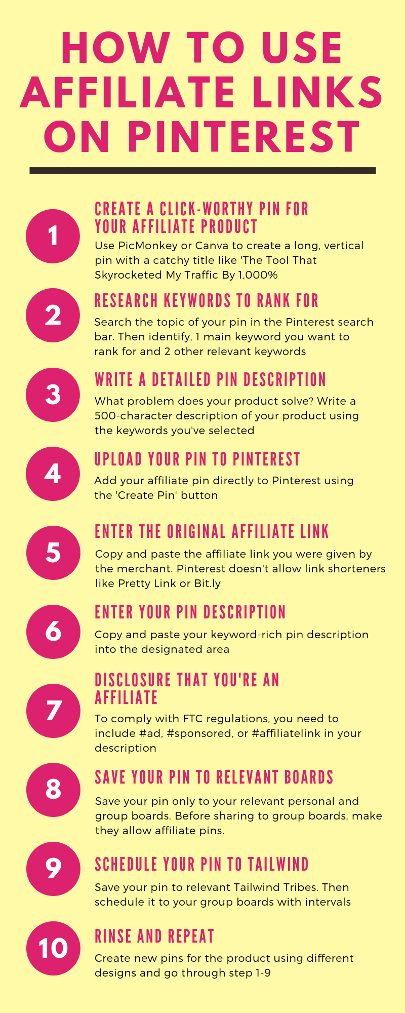 How To Use Affiliate Links on Pinterest Without a Blog
