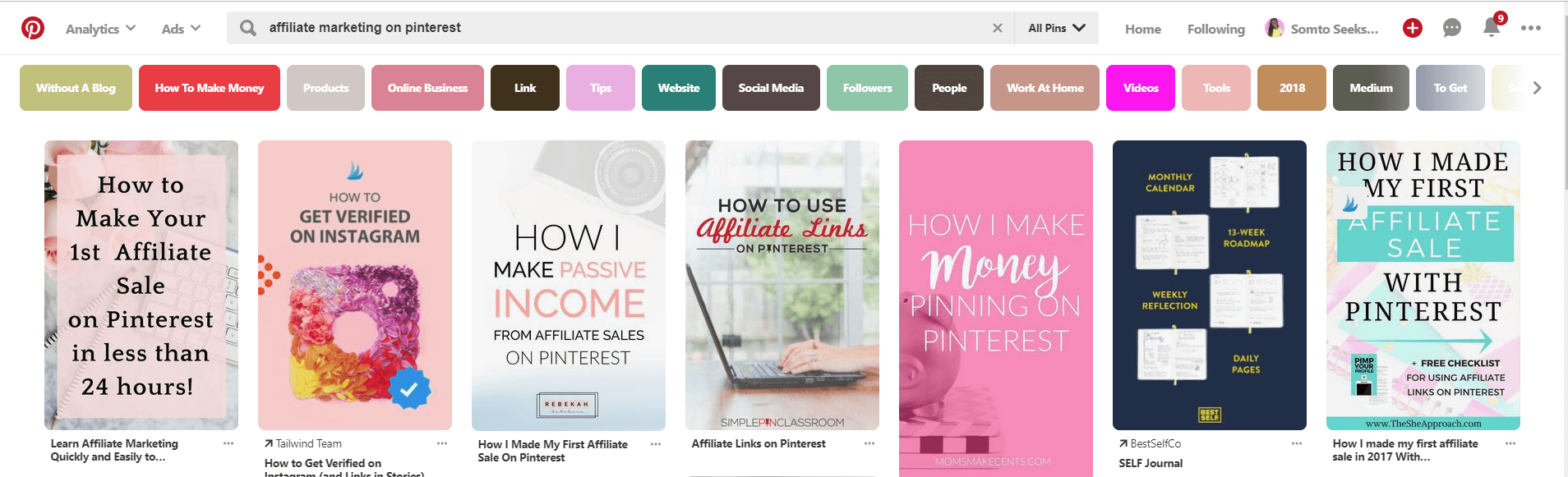 How to make money on Pinterest with affiliate marketing - Pinterest keyword