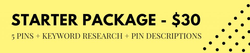 Starter Package Pinterest Services