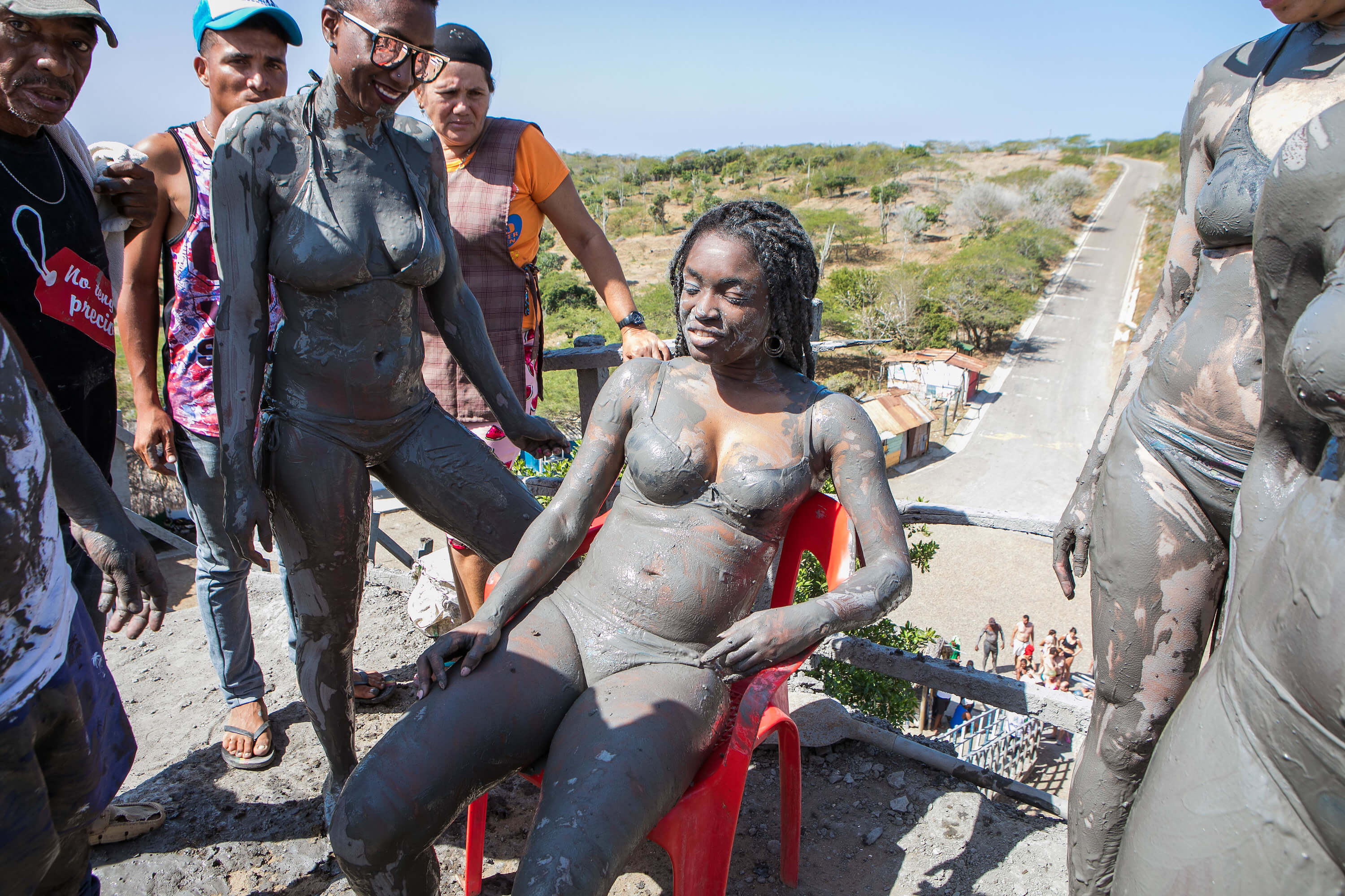 El Totumo Mud Volcano - Waking up after fainting