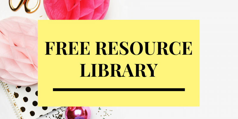 Join My Free Resource Library