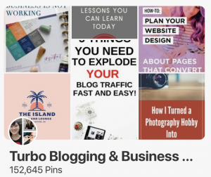 Pinterest for travel bloggers - turbo blogging group board
