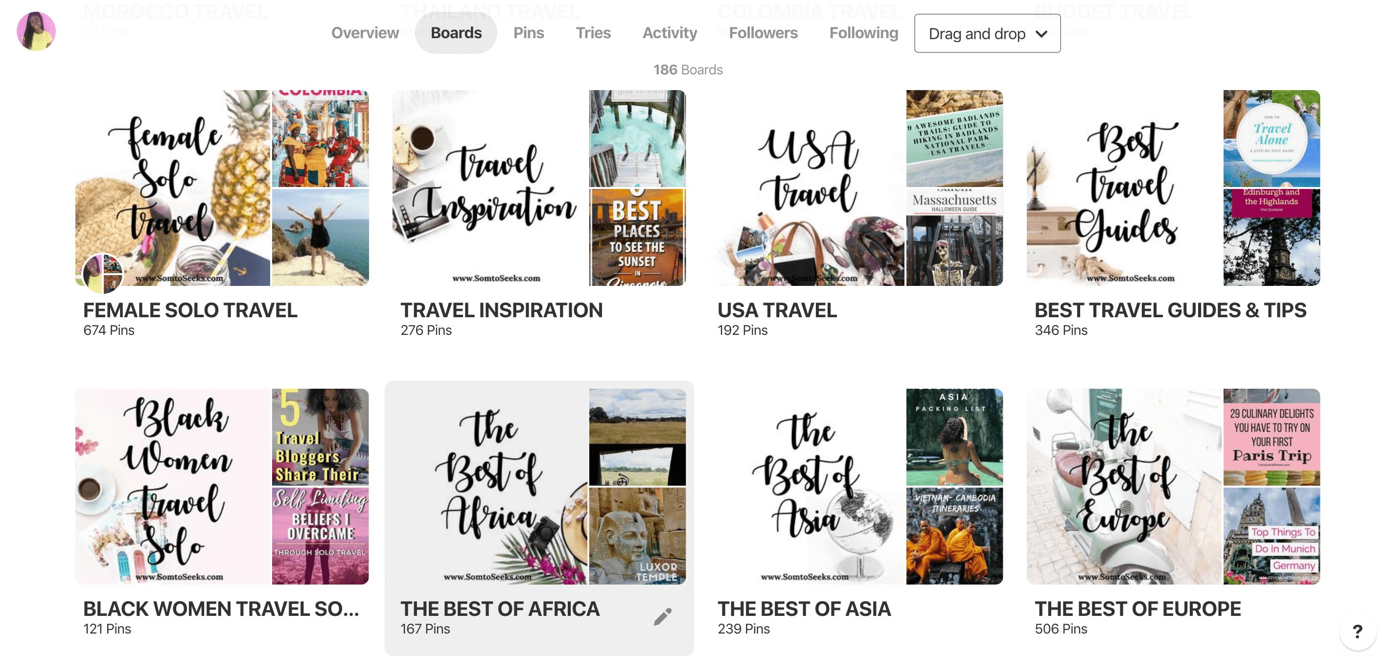 Pinterest for Travel Bloggers - Pinterest Profile