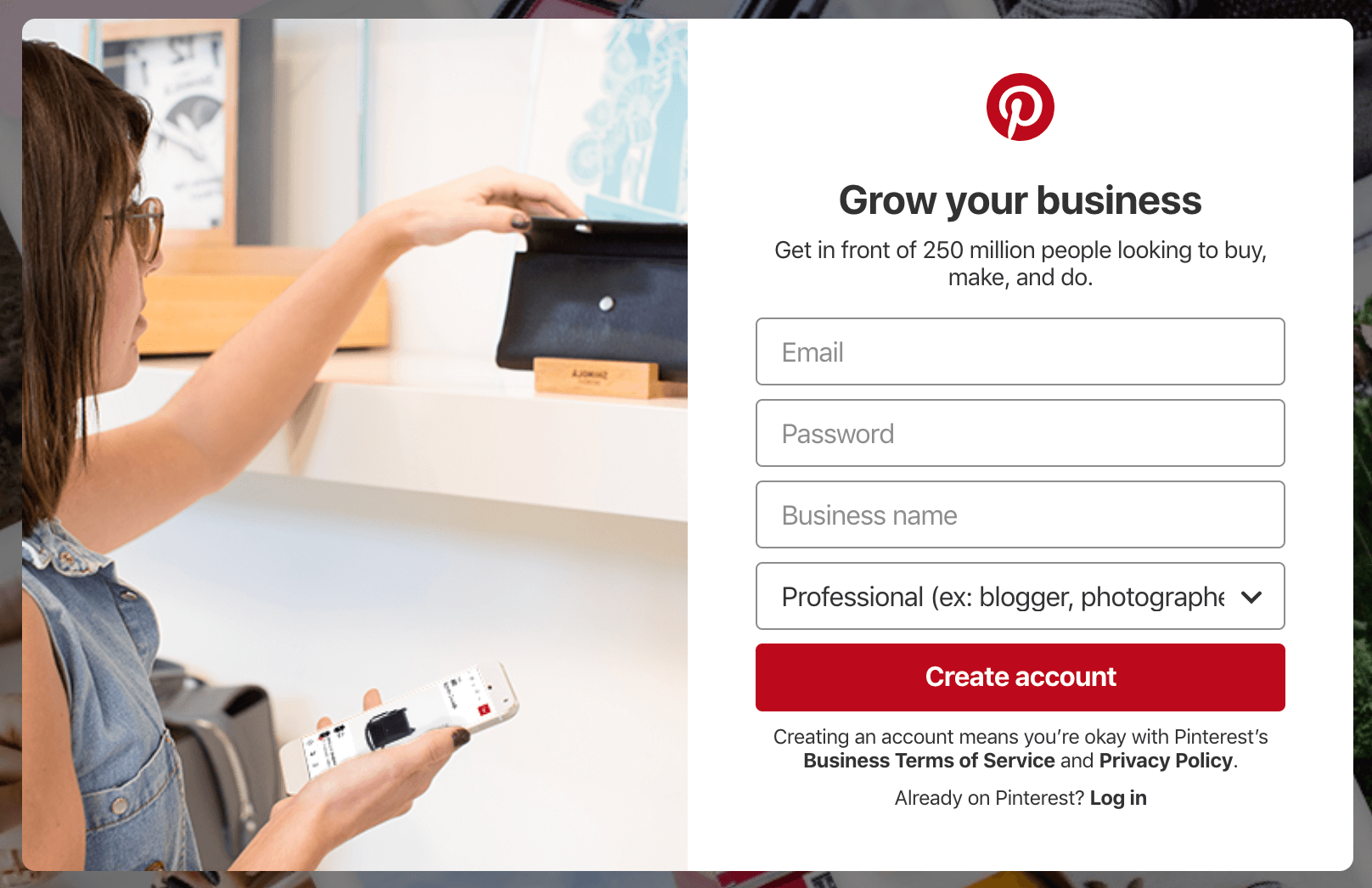 Pinterest for travel bloggers - create a Pinterest Business account