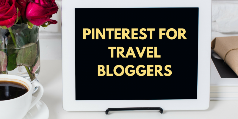 Pinterest for travel bloggers - feature image with computer