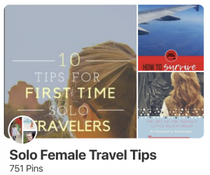Pinterest for travel bloggers - group board solo female travel