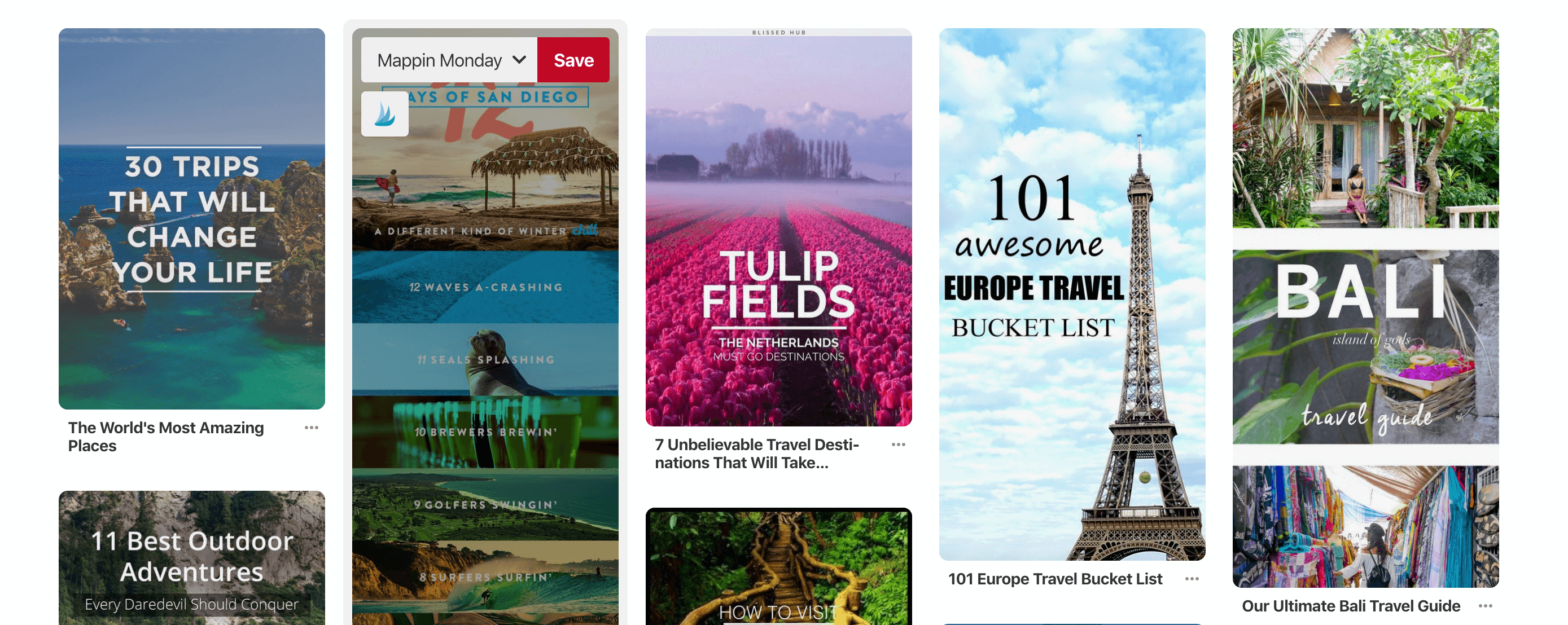 Pinterest for travel bloggers - topics that do well