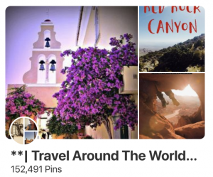 Pinterest for travel bloggers - travel around the world group board