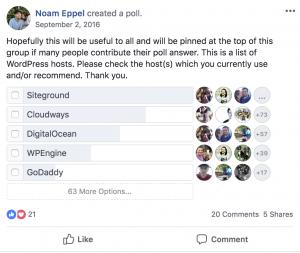 Blogging resources - Siteground poll 2