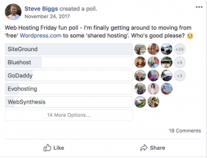 Blogging Resources - Siteground poll 3