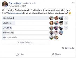 Blogging Resources - Siteground poll 3