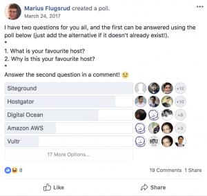 Blogging resources - Siteground poll 4