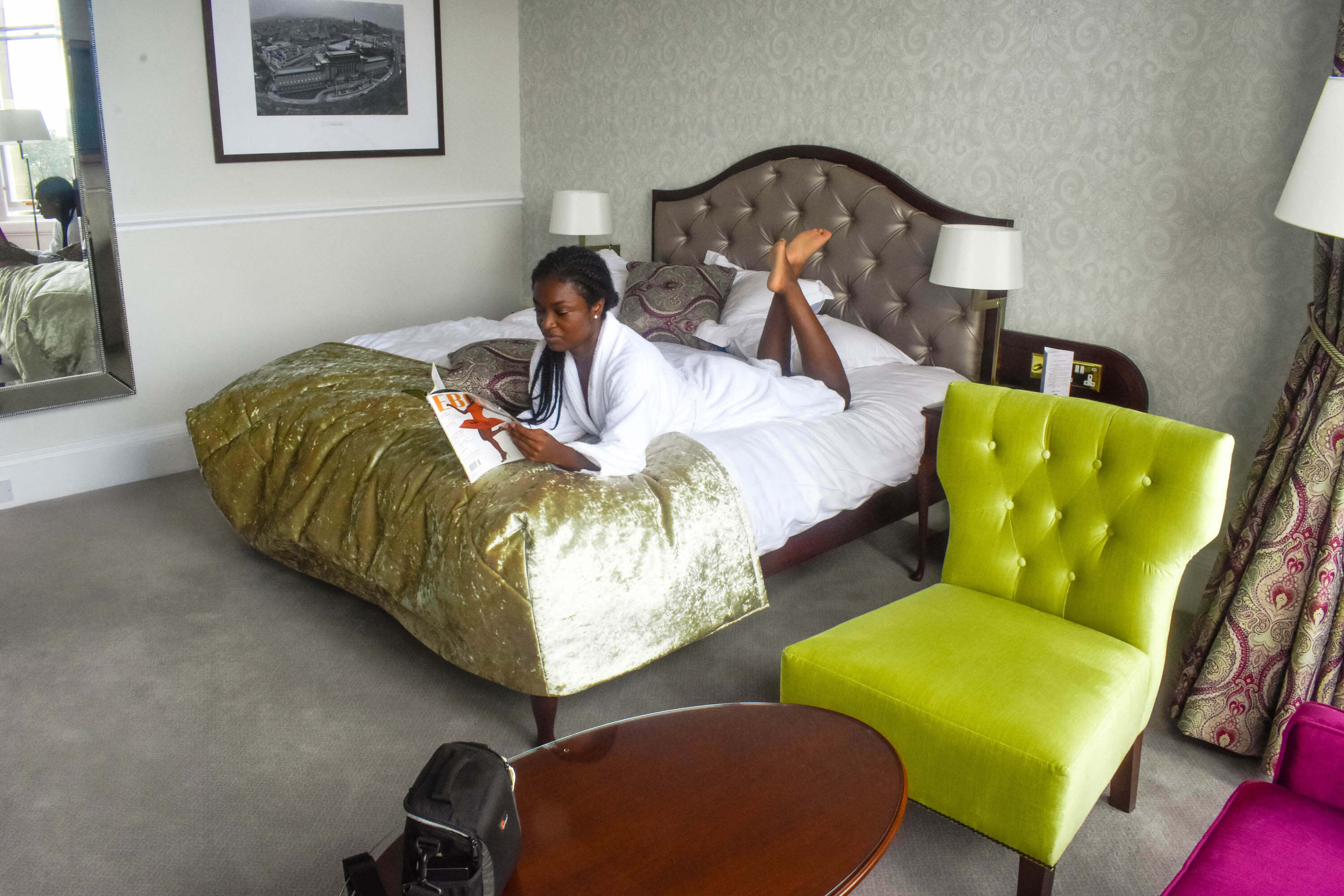 The Bonham Hotel Review - Lying on the Bed Side View