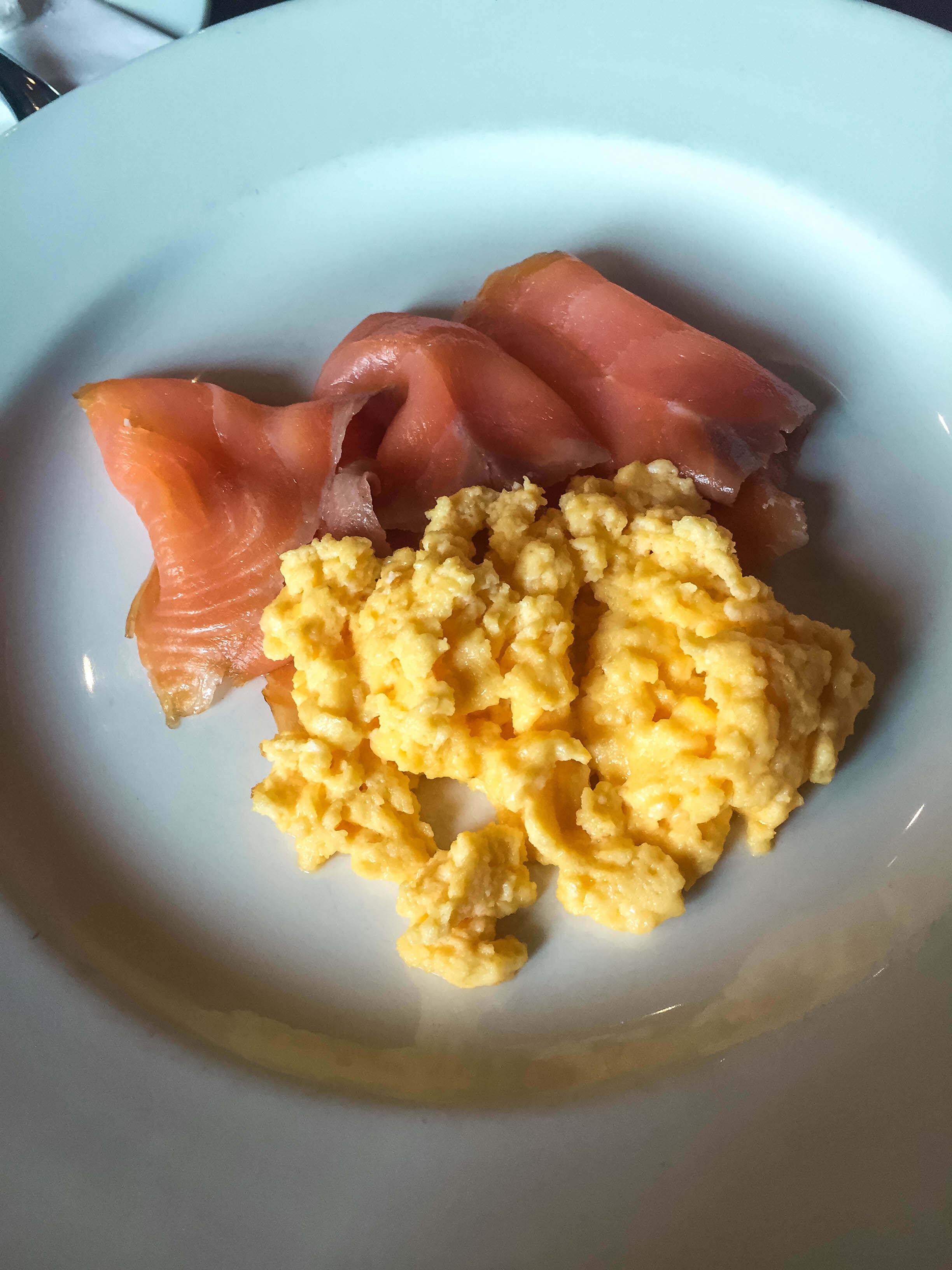 The Bonham Hotel Review - Salmon and Eggs Breakfast