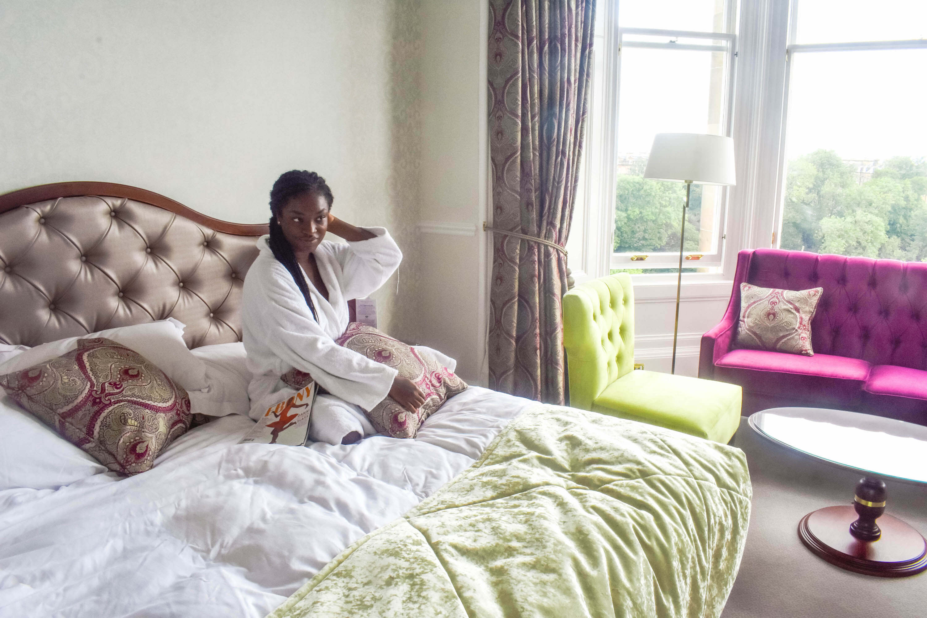 The Bonham Hotel Review - Sitting on the Bed Entrance View