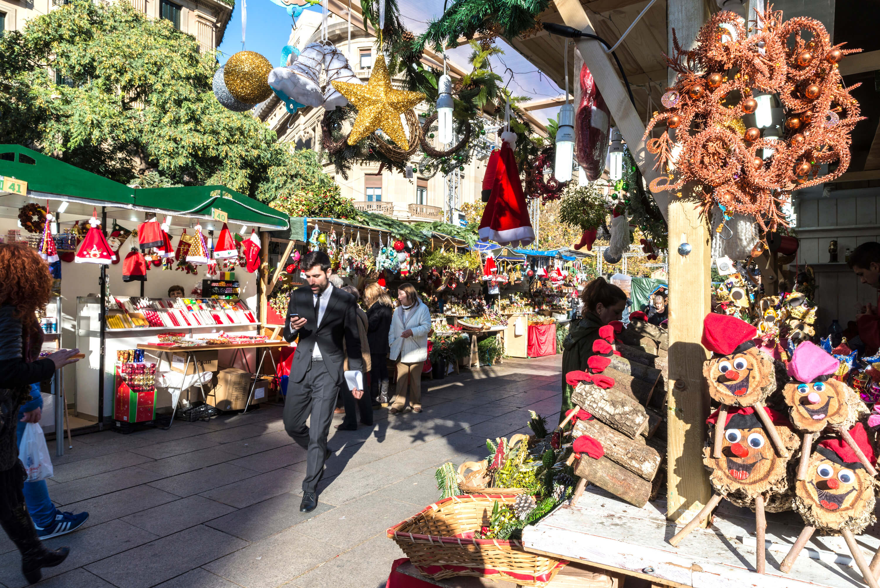 Christmas Traditions in Barcelona - Santa Llucia Market